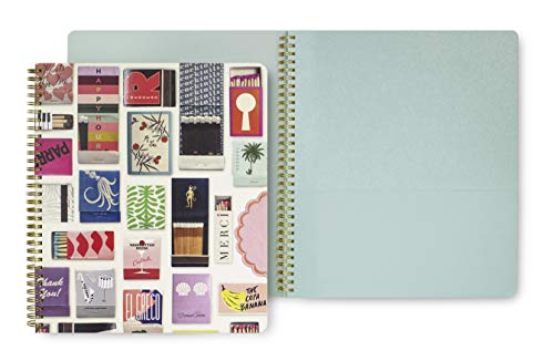 Large Spiral Notebook with 160 College Ruled Pages, Matchbook ()