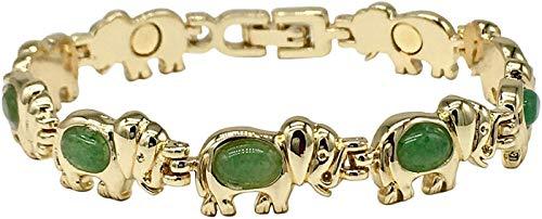 Helena Rose Magnettherapie-Armband für Frauen - Glücksbringer-Armband mit echten Halbedelsteinen - natürliche Schmerzlinderung bei Arthritis, Migräne und Menopause Gelenksteifheit (Armband Mit Glücksbringer)