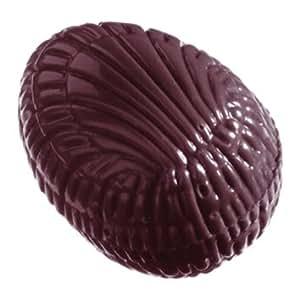 Moule Bonbons demi-oeufs striés professionnel. 40 empreintes 5 g.