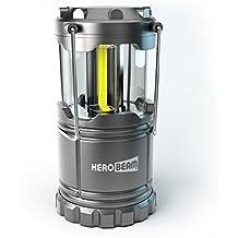 Lámpara plegable para acampar - Iluminación genial para camping, festivales, vehículos, cobertizos, garajes y cortes de suministro eléctrico - incluye pilas