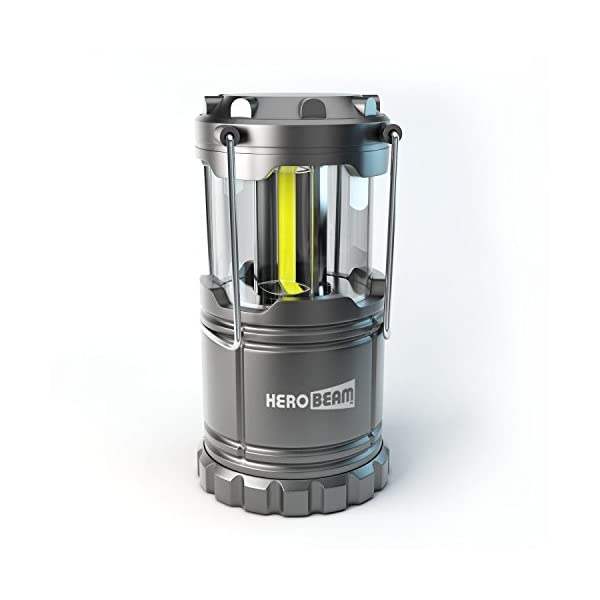 HeroBeam LED Lantern - Latest COB Technology emits 300 LUMENS! - Collapsible Tough Lamp with Magnetic Base - Great Light for Camping, Fishing, Shed, Festivals - 5 YEAR WARRANTY 1