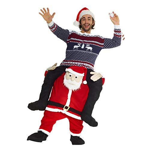 Morph Neu Huckepack Tragen Witzig Kostüm Unisex - Santa