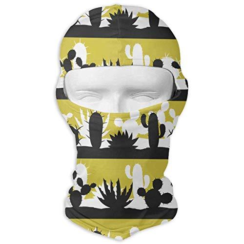Sdltkhy Cactus Shades Black Men Women Balaclava Neck Hood Full Gesichtsmaske Hat Sunscreen Windproof Breathable Quick Drying