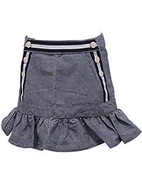 MONCLER 7028Y Gonna Bimba Girl Skirt Cotton Linen Blue d2e4a9349d6