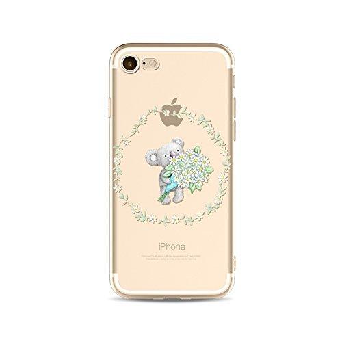 Coque iPhone 5 5s SE Housse étui-Case Transparent Liquid Crystal en TPU Silicone Clair,Protection Ultra Mince Premium,Coque Prime pour iPhone 5 5s SE-Koala-style 8 1