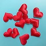 VIGE 100 stücke 3D Schwamm Pfirsich Herz Werfen Liebe Blütenblätter Künstliche Weihnachten Blumen DIY Handwerk Zubehör & Home Party Hochzeit Decor