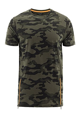 Brave Soul Herren T-Shirt grün grün Khaki Camo - Green