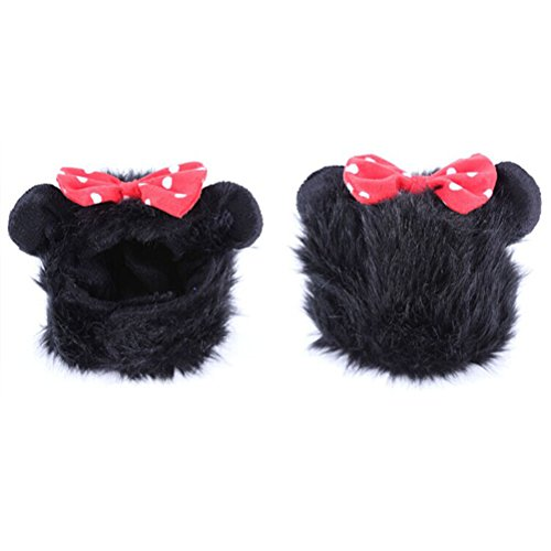 Imagen de ueetek peluca de melena de león traje de mascota para perro gato disfraces con orejas negro