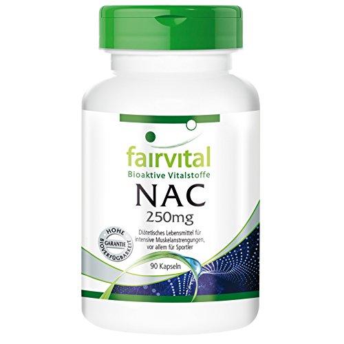 fairvital - NAC - 90 cápsulas de N-acetilcisteína (250 mg)