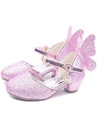 YOGLY Niñas Zapatos de Tacón Princesa Fiesta Sandalias para Niñas 36df19ecfe52a