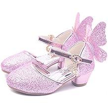 16024e2e5 YOGLY Niñas Zapatos de Tacón Princesa Fiesta Sandalias para Niñas