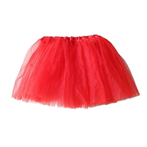 Sannysis® Muchacha del ballet princesa Party Tutu mini vestido de falda (Rojo)