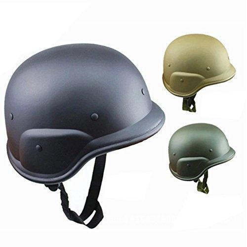 Kunststoffhelm Motorradhelm Motorradhelm Motorradhelm Armee Kunststoff Camouflage Helm Free Size Schwarz (Armee Helm Kunststoff)