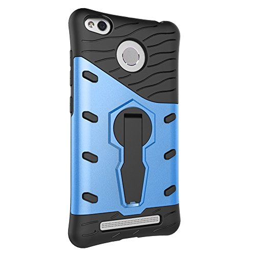 Für Xiaomi 3 & 3S & 3S Pro & 3A & 3X Fall Neue Rüstung Tough Style Hybrid Dual Layer Rüstung Defender Soft TPU / PC Rückseitige Abdeckung Fall mit 360 ° Stand [Shockproof Case] ( Color : Black ) Blue