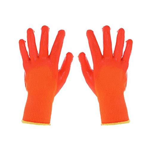 YXLZZO Guanti in Gomma Semi-appesi in PVC Impermeabili Antiscivolo Resistenti all'olio Guanti antiusura Guanti industriali Speciali in Gomma da Cintura