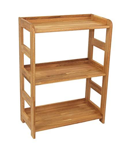 Regal Beethoven, 90x65x33cm, Echtholz Eiche geölt, für Wohnzimmer, Büro oder Kinderzimmer, echtes Holz