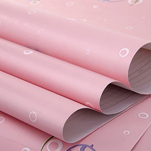 Zhzhco Verdickung Pvc Selbstklebend Papier Für Wandplakate Einfügen Geprägte Tapeten Der Pastoralen Kinderzimmer Wohnzimmer Hintergrund Aufkleber