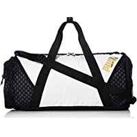 Puma Ambition Barrel Bag, Mujer, White/Black, UA