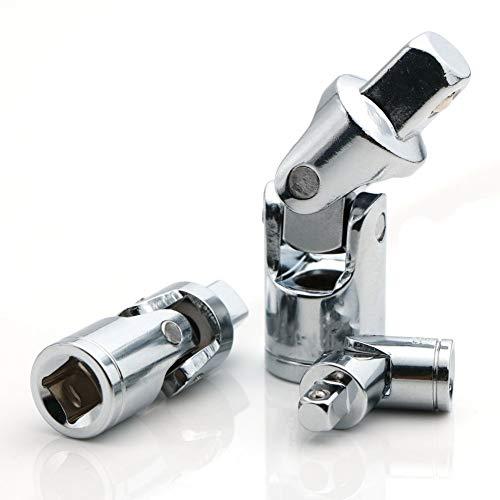 Universal-manschette-adapter (SNOWINSPRING Universal Gelenk Satz, Gelenk Adapter Ratschen Sockel, Universal Manuelles Werkzeug FüR Alle Sechskant Griffe, 1/4-Zoll, 3/8-Zoll, 1/2-Zoll Antriebs Satz, 3 StüCke)