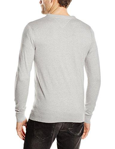 Hilfiger Denim Herren Pullover Grau - Hellgrau (Light Grey Heather)