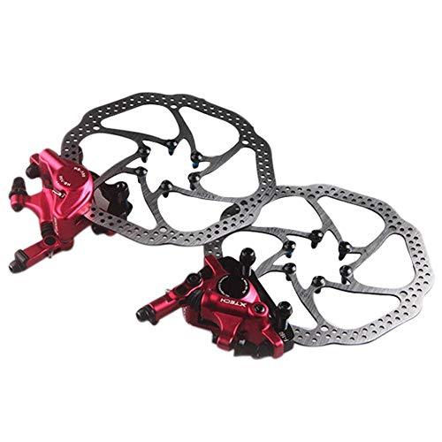 SOWLFE Mountainbike Fahrrad Hydraulische Scheibenbremse, Zoom HB-100 Line Pull Vorne Hinten Öldruckscheibenbremse, Ölscheibenbremse Gerät -