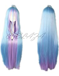 COSPLAZA Perruque no game no life Sora rose bleue Mixed Anime Cosplay Wigs Noël Party Cheveux