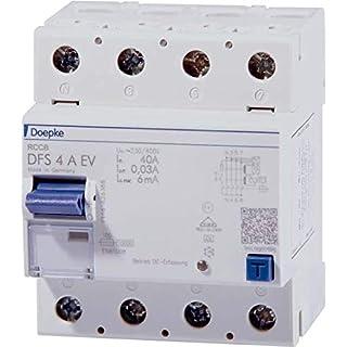 Doepke FI-Schalter DFS4 040-4/0,03-A EV Fehlerstrom-Schutzschalter 4014712215955