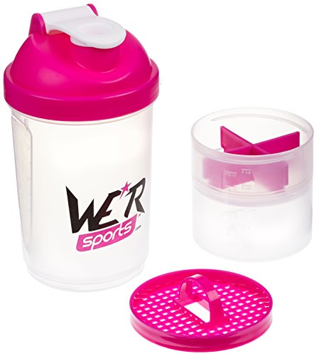 We R Sports XPS4000 Protéines shaker bouteille Rose