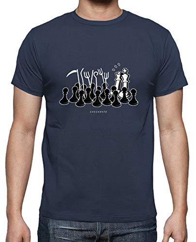 latostadora - Camiseta Jaque Mate para Hombre clásica, Calidad Premium Denim