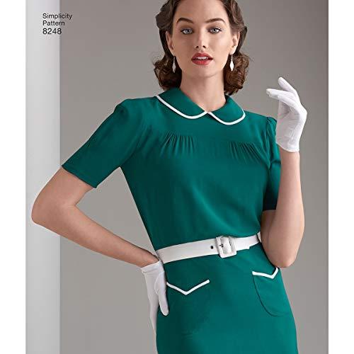 Blanco Simplicity Pattern 8509/H5/ 22/x 15/x 1/cm Papel 6//–/8-10//–/12//–/14 de Costura para Vintage Capa o Chaqueta