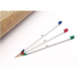 ZHJZ - Pinceles de uñas blancos para decoración de uñas, bolígrafo de rayas