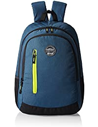 Gear Navy Blue and Green Casual Backpack (BKPECOBP40503)