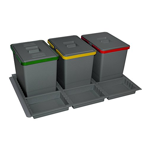 ELLETIPI ptc28080501F C10PPV Mülleimer Mülltrennung mit Schublade -