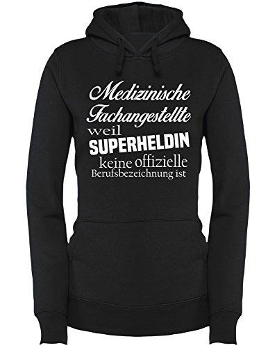 Medizinische Fachangestellte - Weil Superheldin keine Offizielle Berufsbezeichnung ist - Damen Hoodie Schwarz/Weiss