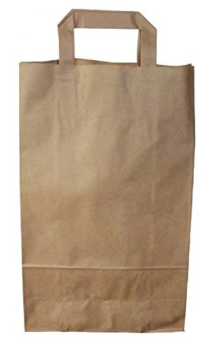 20 Papiertragetasche Tragetaschen braun Papier Groß (Papier-tragetaschen Groß)