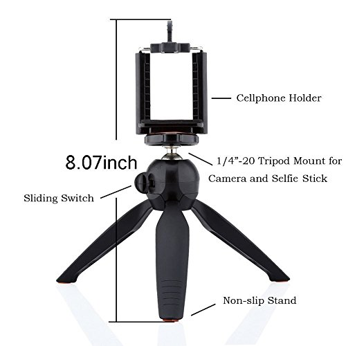 UNIGEAR YT-228 Mini Tripod (Black, Supports Up to 1500 g) Monopod Kit, Monopod, Tripod, Tripod Kit(Black, Supports Up to 500 g) 4
