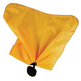 Smitty Officials Football Penalty Flag with Center Weight Ball, Black/Gold by Smittybilt