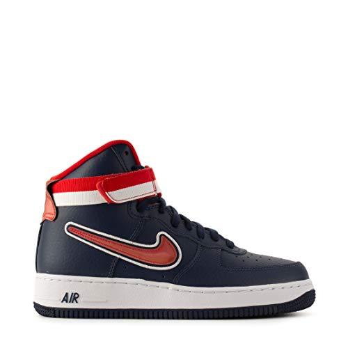 Nike Herren Air Force 1 High '07 LV8 AV3938-40 Hohe Sneaker, Blau (Navy Av3938-400), 41 EU