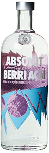 Absolut Wodka Berri Acai (1 x 1 l) (Limited-edition Granatapfel)