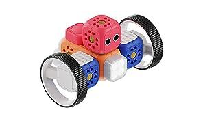 Robo Wunderkind Robot Bambini da 5 Anni - Giocattolo Educativo Pluripremiato Insegna Programmazione per Bambini - Kit Robotica Compatibile Lego con 3 App