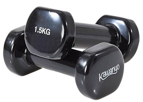 KAWANYO Vinyl Hantel - 2 x 1.5 kg Krafttraining workout Gewichte Kurzhantel