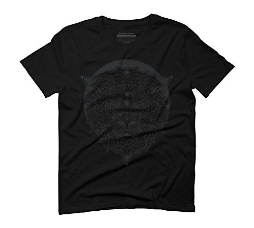 Lion Men's Graphic T-Shirt - Design By Humans Black