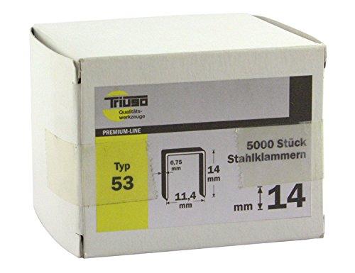 Triuso Agrafes type 53Lot de 5000C = 14mm