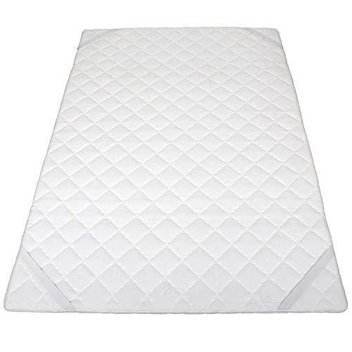 Cleveroo Ben Topper, Premium Matratzenauflage 90 x 200 cm, 5 cm Gesamthöhe, mit Reißverschluss, mittelfest, weiß
