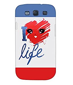 Fuson Multishades Text Back Case Cover for SAMSUNG GALAXY S3 - D3899