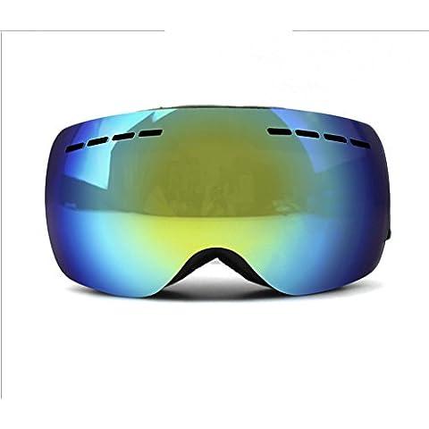 nicelife grande sferica doppia Anti–Fog Sci Occhiali Miopia Occhiali da sci professionale V659, Black