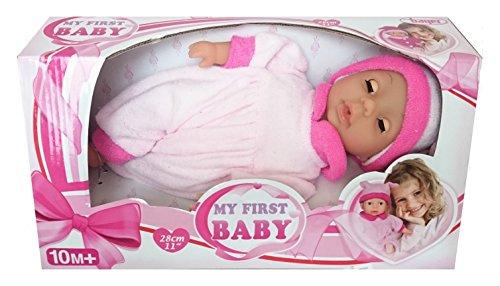 Doll Schlafanzug Passenden (Bayer Design 92802 - Babypuppe mit Schlafaugen My first Baby 28 cm rosa)