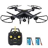 REDPAWZ H68 WiFi FPV RC Drohne Max Flugzeit 20 Minuten mit 720P HD Kamera Höhe Halten Modus Schwarz - Zwei Batterie (H68)