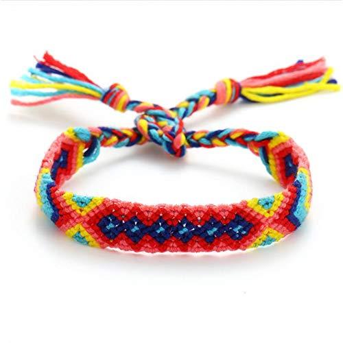 CTRCHUJIAN Sommer Böhmen Fußkettchen Bunte Strand Charme Seil String Fußkettchen Für Frauen Knöchel Armband Frau (Knöchel Armbänder String)