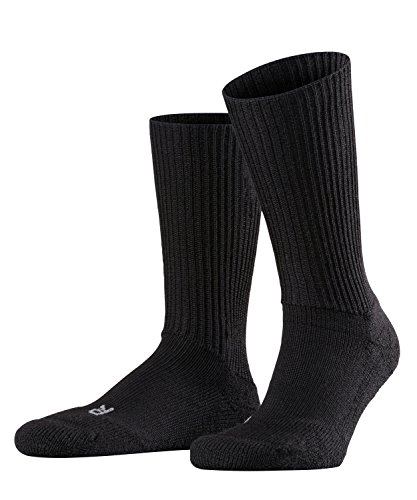 FALKE Unisex Socken Walkie Ergo - Merinowollmischung, 1 Paar, Schwarz (Black 3000), Größe: 37-38